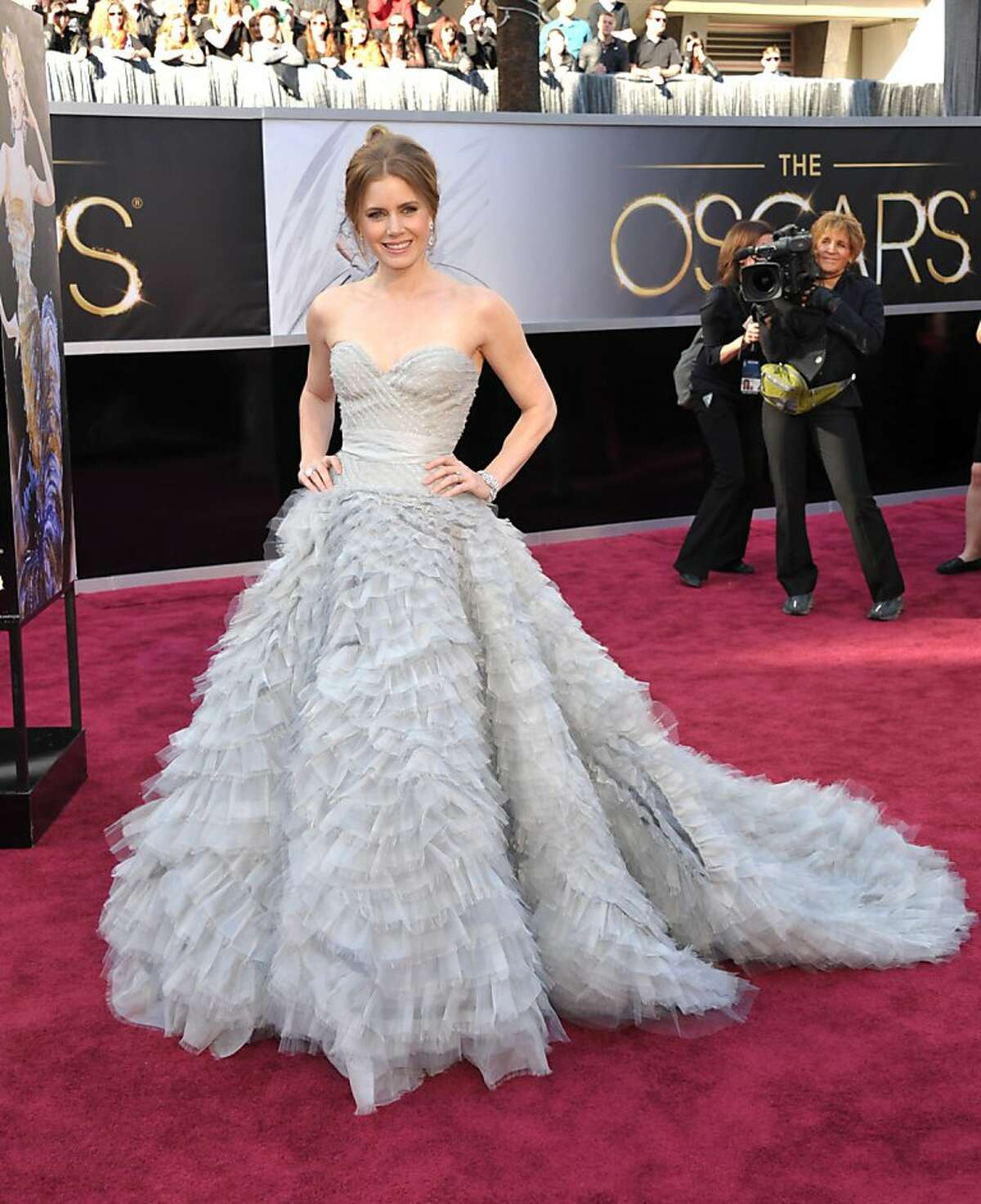Worst: Amy Adams has the fashion world at her feet, and she picks the pigeon dress?