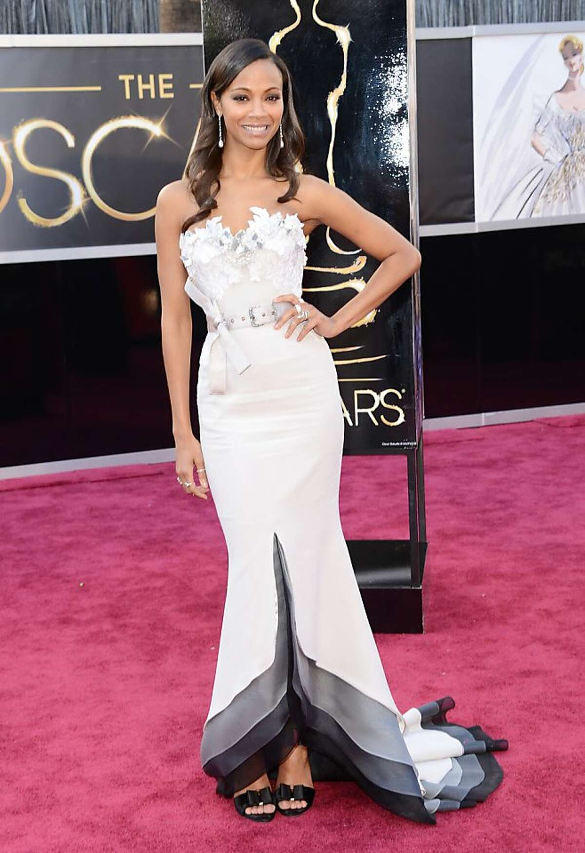 Worst: Zoe Saldana. The belt? Also, why did everyone diet down to Fantine-level skinny?