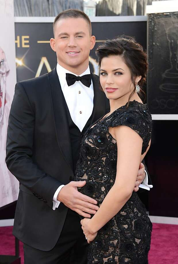 Best: Channing Tatum, clean-cut and three-pieced. Best: Jenna Dewan, because that man on her arm.  Photo: Jason Merritt, Getty Images