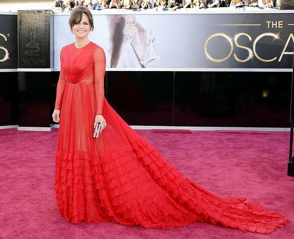 Worst: Sally Field. Yes, it's red, but you're as covered-up as a nun. Photo: Jason Merritt, Getty Images