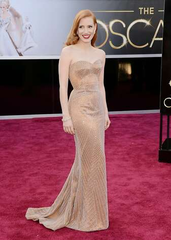HOLLYWOOD, CA - FEBRUARY 24:  Actress Jessica Chastain arrives at the Oscars at Hollywood & Highland Center on February 24, 2013 in Hollywood, California.  (Photo by Jason Merritt/Getty Images) Photo: Jason Merritt, Getty Images
