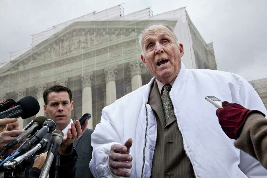 Vernon Hugh Bowman, a 75-year-old Indiana soybean farmer, faced off against Monsanto Co. in the Supreme Court in a dispute over patented seeds. Photo: J. Scott Applewhite / Associated Press