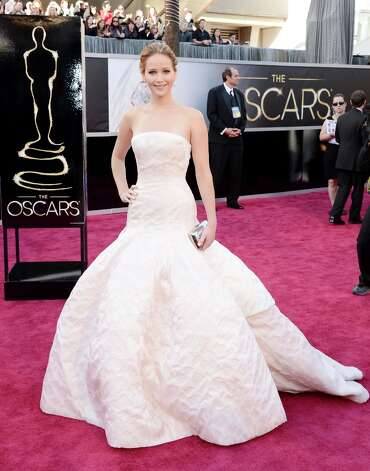 Actress Jennifer Lawrence arrives at the Oscars at Hollywood & Highland Center on February 24, 2013 in Hollywood, California. Photo: Jason Merritt, Getty Images / 2013 Getty Images
