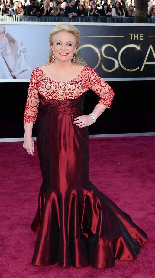 Best Supporting Actress nominee Jacki Weaver  arrives on the red carpet for the 85th Annual Academy Awards on February 24, 2013 in Hollywood, California. AFP PHOTO/FREDERIC J. BROWNFREDERIC J. BROWN/AFP/Getty Images Photo: FREDERIC J. BROWN, AFP/Getty Images / AFP