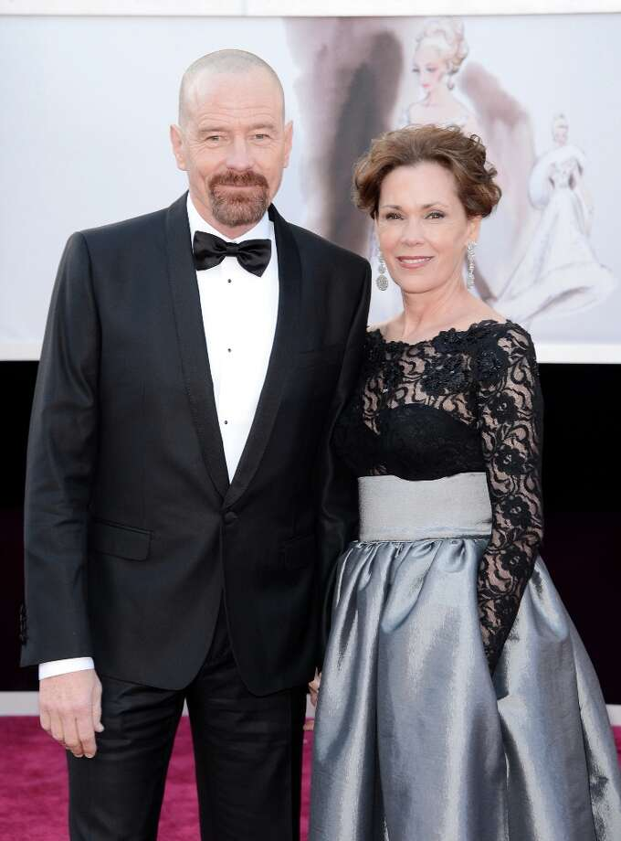 Actor Bryan Cranston and wife Robin Dearden arrive at the Oscars at Hollywood & Highland Center on February 24, 2013 in Hollywood, California. Photo: Jason Merritt, Getty Images / 2013 Getty Images