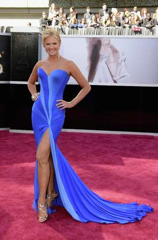 TV personality Nancy O'Dell attends the Oscars at Hollywood & Highland Center on February 24, 2013 in Hollywood, California. Photo: Jason Merritt, Getty Images / 2013 Getty Images