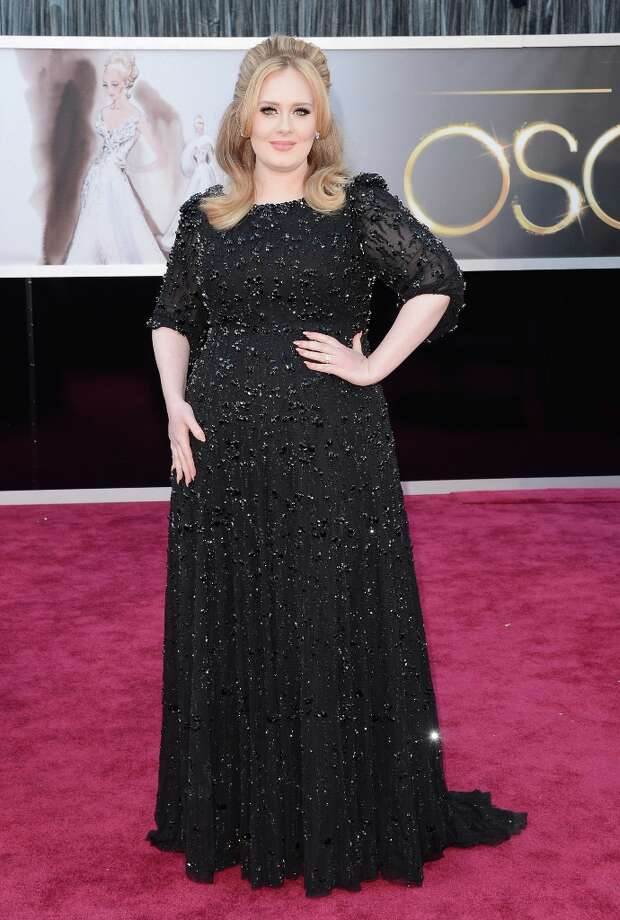 Singer Adele arrives at the Oscars at Hollywood & Highland Center on February 24, 2013 in Hollywood, California. Photo: Jason Merritt, Getty Images / 2013 Getty Images