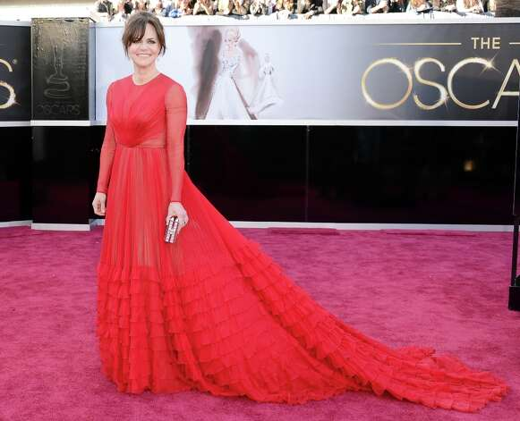 Actress Sally Field arrives at the Oscars at Hollywood & Highland Center on February 24, 2013 in Hollywood, California. Photo: Jason Merritt, Getty Images / 2013 Getty Images