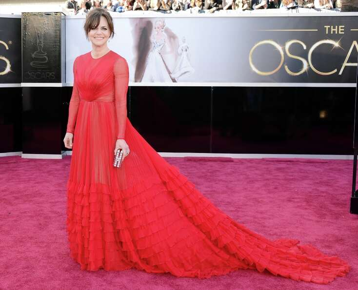 Actress Sally Field arrives at the Oscars at Hollywood & Highland Center on February 24, 2013 in Hol