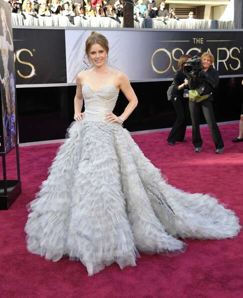 Amy Adams arrives at the 85th Academy Awards at the Dolby Theatre on Sunday Feb. 24, 2013, in Los An