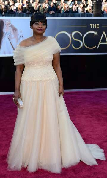 Actress Octavia Spencer arrives on the red carpet for the 85th Annual Academy Awards on February 24,