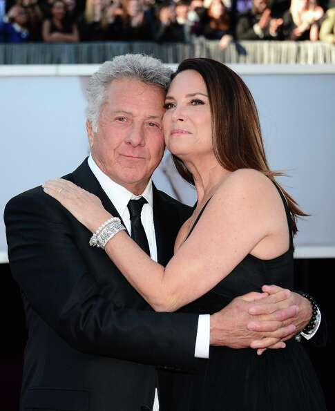 Dustin Hoffman and wife Lisa arrive on the red carpet for the 85th Annual Academy Awards on February