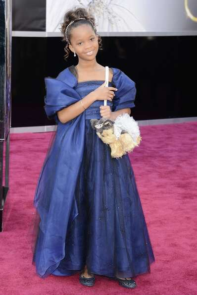 Actress Quvenzhane Wallis arrives at the Oscars at Hollywood & Highland Center on February 24, 2013
