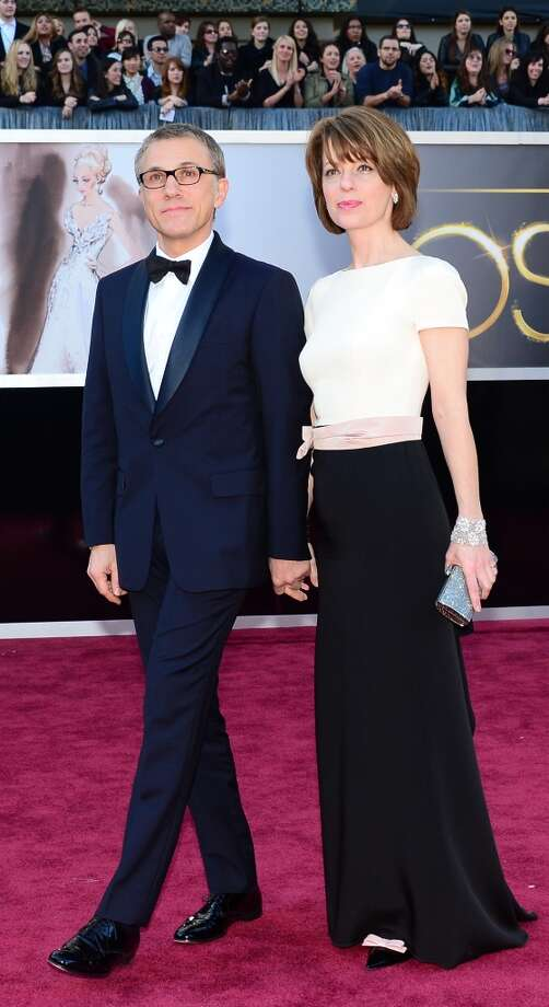 Best Supporting Actor nominee Christoph Waltz and a guest arrive on the red carpet for the 85th Annual Academy Awards on February 24, 2013 in Hollywood, California. AFP PHOTO/FREDERIC J. BROWNFREDERIC J. BROWN/AFP/Getty Images Photo: FREDERIC J. BROWN, AFP/Getty Images / AFP
