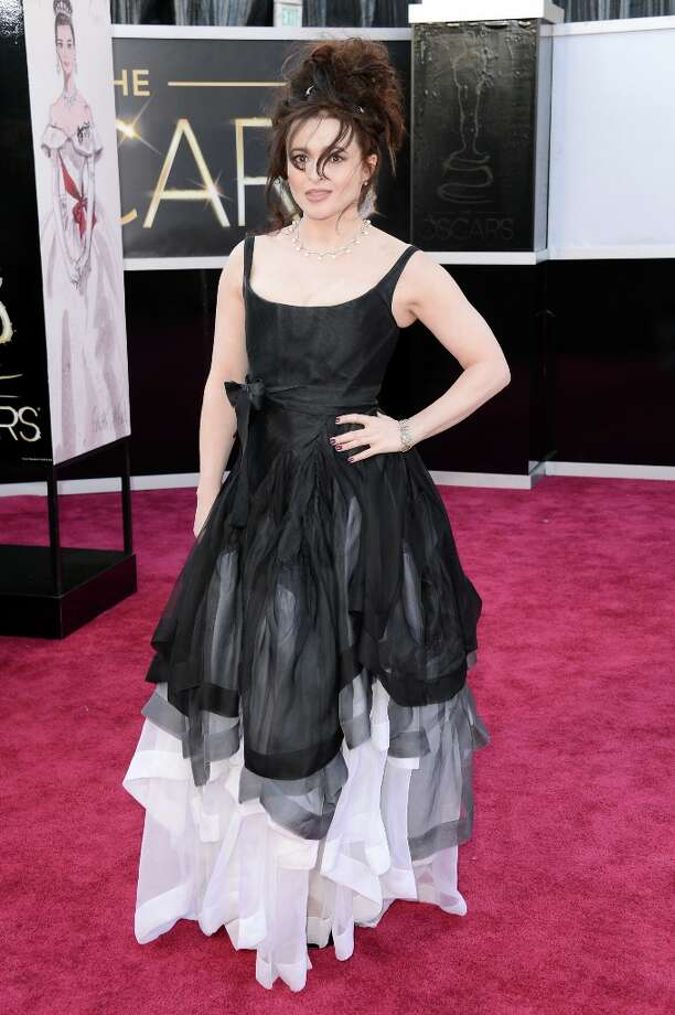 HOLLYWOOD, CA - FEBRUARY 24:  Actress Helena Bonham Carter arrives at the Oscars at Hollywood & Highland Center on February 24, 2013 in Hollywood, California. Photo: Jason Merritt, Getty Images / 2013 Getty Images
