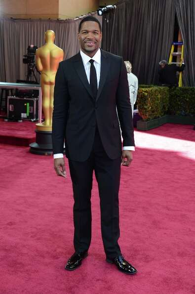 TV personality Michael Strahan arrives at the Oscars at Hollywood & Highland Center on February 24,