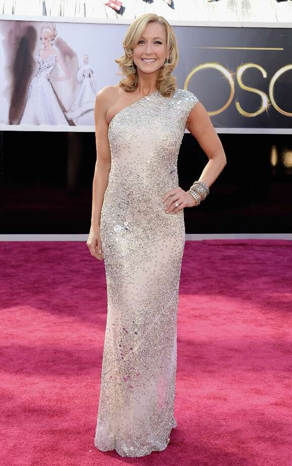 TV personality Lara Spencer arrives at the Oscars at Hollywood & Highland Center on February 24, 2013 in Hollywood, California. Photo: Jason Merritt, Getty Images / 2013 Getty Images