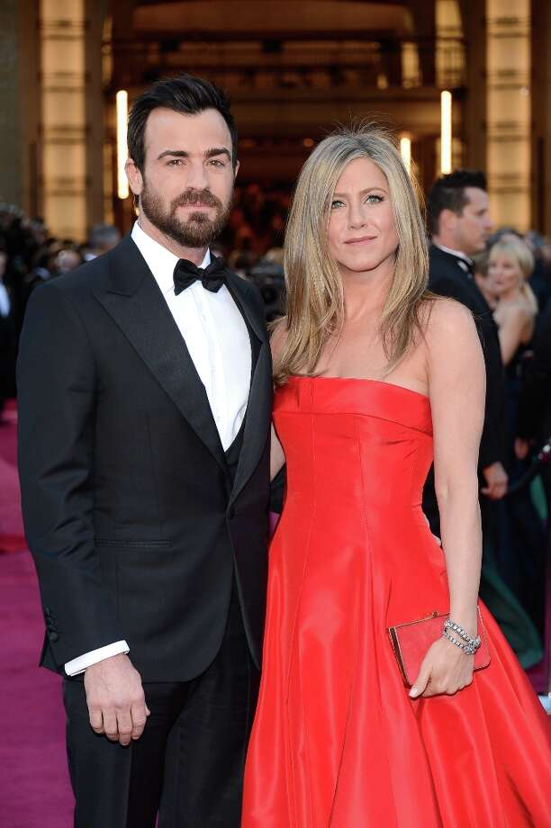Actors Justin Theroux and Jennifer Aniston arrive at the Oscars at Hollywood & Highland Center on February 24, 2013 in Hollywood, California. Photo: Kevork Djansezian, Getty Images / 2013 Getty Images