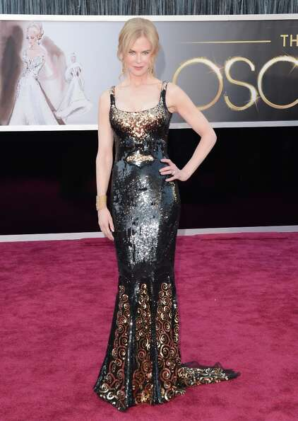 Actress Nicole Kidman arrives at the Oscars at Hollywood & Highland Center on February 24, 2013 in H