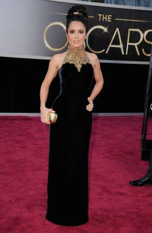Actress Salma Hayek arrives at the Oscars at Hollywood & Highland Center on February 24, 2013 in Hollywood, California. Photo: Steve Granitz, WireImage / 2013 Steve Granitz