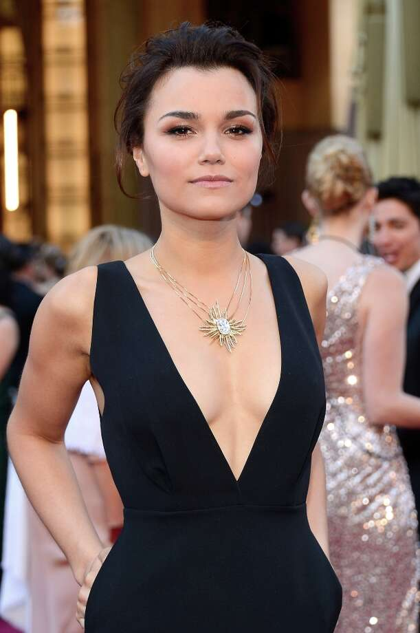 HOLLYWOOD, CA - FEBRUARY 24:  Actress Samantha Barks arrives at the Oscars at Hollywood & Highland Center on February 24, 2013 in Hollywood, California. Photo: Kevork Djansezian, Getty Images / 2013 Getty Images