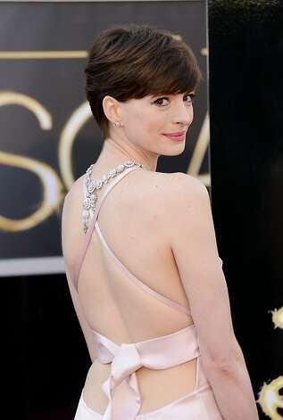 HOLLYWOOD, CA - FEBRUARY 24:  Actress Anne Hathaway arrives at the Oscars at Hollywood & Highland Center on February 24, 2013 in Hollywood, California.  (Photo by Jason Merritt/Getty Images) Photo: Jason Merritt, Getty Images