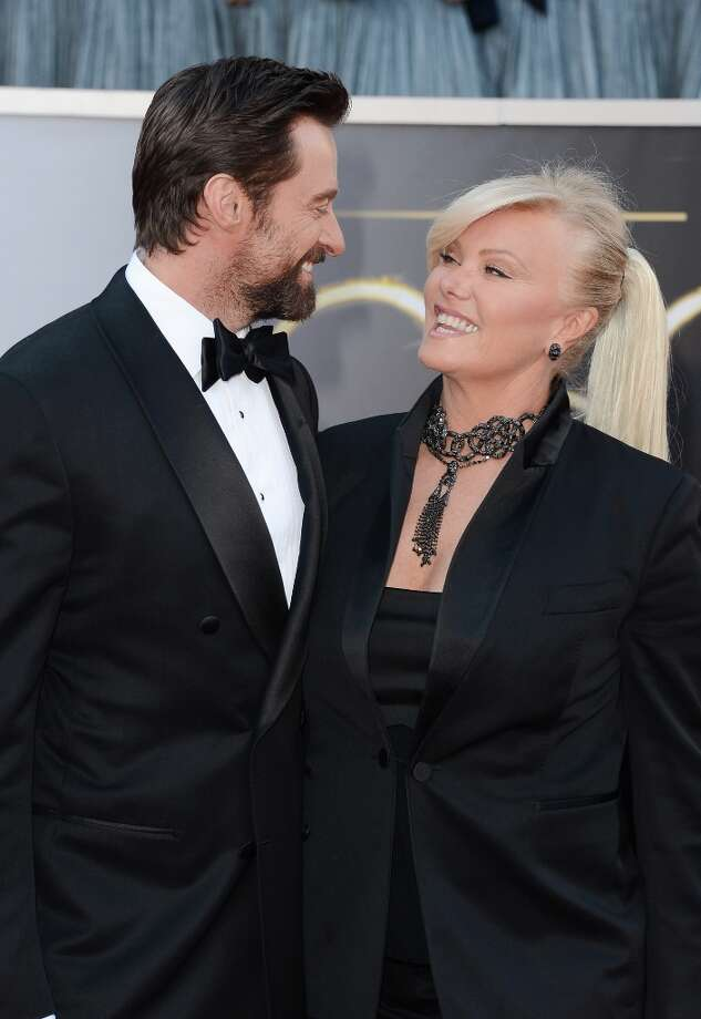 Actor Hugh Jackman and wife Deborra-Lee Furness arrive at the Oscars at Hollywood & Highland Center on February 24, 2013 in Hollywood, California. Photo: Jason Merritt, Getty Images / 2013 Getty Images