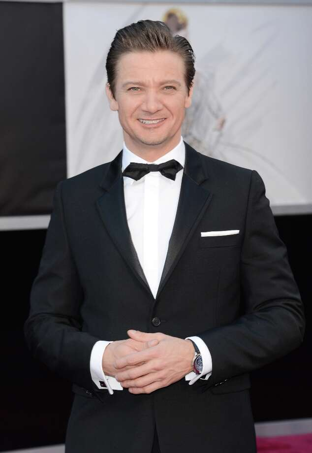 Actor Jeremy Renner arrives at the Oscars at Hollywood & Highland Center on February 24, 2013 in Hollywood, California. Photo: Jason Merritt, Getty Images / 2013 Getty Images