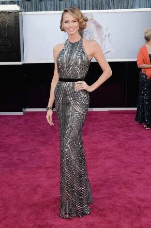 Actress Stacy Keibler arrives at the Oscars at Hollywood & Highland Center on February 24, 2013 in Hollywood, California. Photo: Jason Merritt, Getty Images / 2013 Getty Images