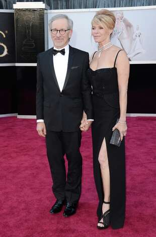 Director Steven Spielberg and wife Kate Capshaw arrive at the Oscars at Hollywood & Highland Center on February 24, 2013 in Hollywood, California. Photo: Jason Merritt, Getty Images / 2013 Getty Images