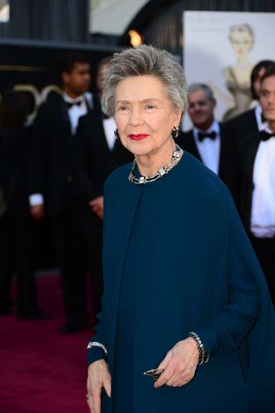 Best Actress nominee Emmanuelle Riva arrives on the red carpet for the 85th Annual Academy Awards on