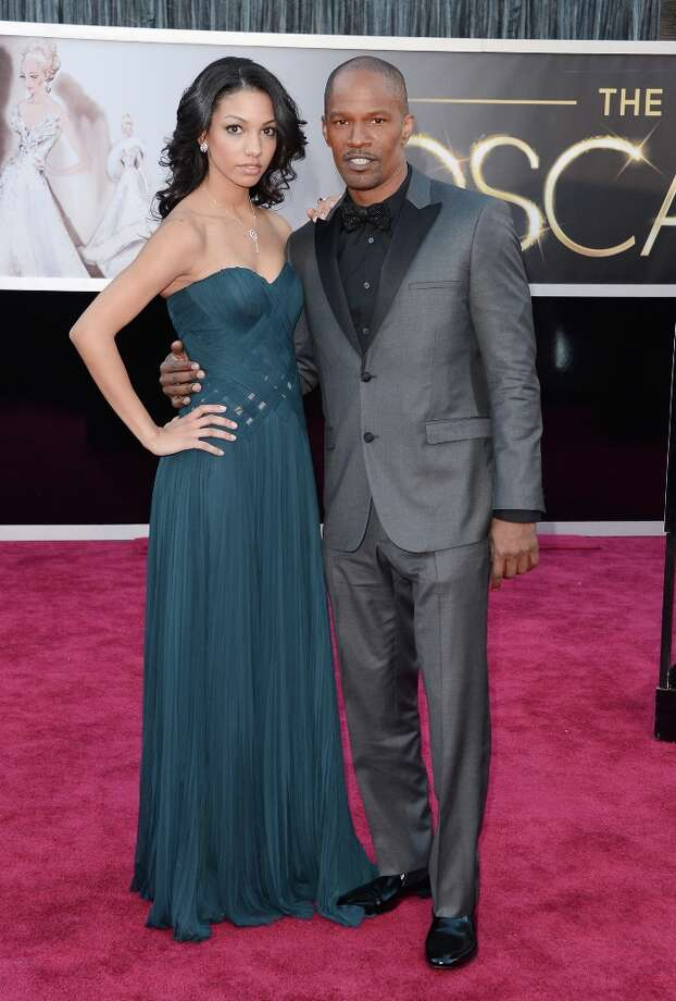 Actor Jamie Foxx (R) and daughter Corinne Bishop arrive at the Oscars at Hollywood & Highland Center on February 24, 2013 in Hollywood, California. Photo: Jason Merritt, Getty Images / 2013 Getty Images