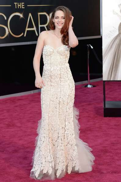 Actress Kristen Stewart arrives at the Oscars at Hollywood & Highland Center on February 24, 2013 in