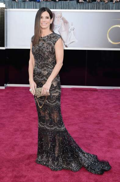 Actress Sandra Bullock arrives at the Oscars at Hollywood & Highland Center on February 24, 2013 in