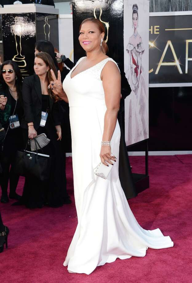 Actress Queen Latifah arrives at the Oscars at Hollywood & Highland Center on February 24, 2013 in Hollywood, California. Photo: Jason Merritt, Getty Images / 2013 Getty Images