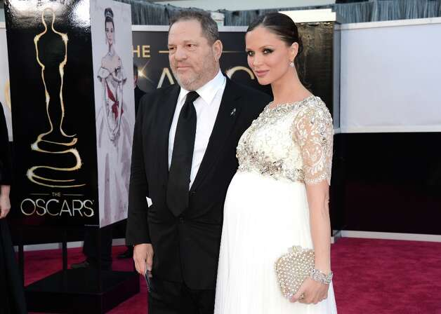 Weinstein Company Co-Chairman Harvey Weinstein and designer Georgina Chapman arrive at the Oscars at Hollywood & Highland Center on February 24, 2013 in Hollywood, California. Photo: Jason Merritt, Getty Images / 2013 Getty Images