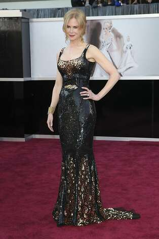 Nicole Kidman sparkled in a scoop-necked, fitted column of black. Photo: Josh Haner, New York Times