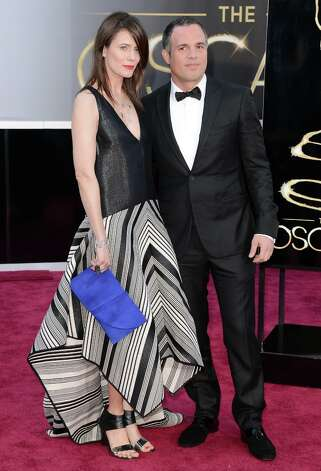 Actor Mark Ruffalo (R) and wife Sunrise Coigney arrive at the Oscars at Hollywood & Highland Center on February 24, 2013 in Hollywood, California. Photo: Jason Merritt, Getty Images / 2013 Getty Images