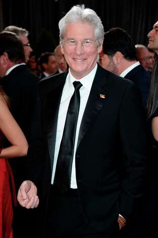 Actor Richard Gere arrives at the Oscars at Hollywood & Highland Center on February 24, 2013 in Hollywood, California. Photo: Frazer Harrison, Getty Images / 2013 Getty Images