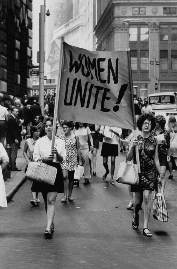 "Women's liberation supporters march in New York in 1970. ""Makers: Women Who Make America,"" a new PBS documentary, explores the progress women have made in the past 50 years. Photo: Courtesy Of John Olson, Contributor"