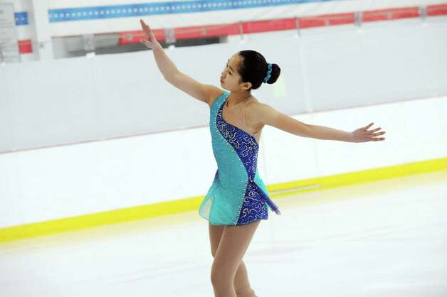 Sarah Gu, RFSC, competing at the 2013 Greenwich Town Figure Skating Competition at the Dorothy Hamill Skating Rink, in Byram, Conn., Sunday, Feb. 24, 2013. Photo: Helen Neafsey / Greenwich Time