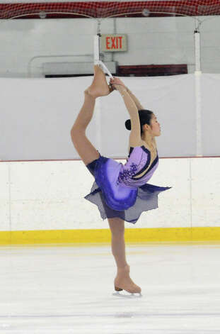 Yuki Tsuchiya, of RFSC, 14, competing at the 2013 Greenwich Town Figure Skating Competition at the Dorothy Hamill Skating Rink, in Byram, Conn., Sunday, Feb. 24, 2013. Photo: Helen Neafsey / Greenwich Time
