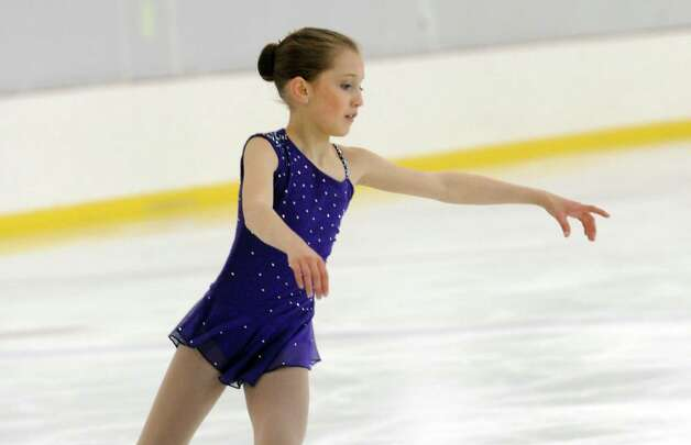 Alexia Paganini, RFSC, competing at the 2013 Greenwich Town Figure Skating Competition at the Dorothy Hamill Skating Rink, in Byram, Conn., Sunday, Feb. 24, 2013. Photo: Helen Neafsey / Greenwich Time