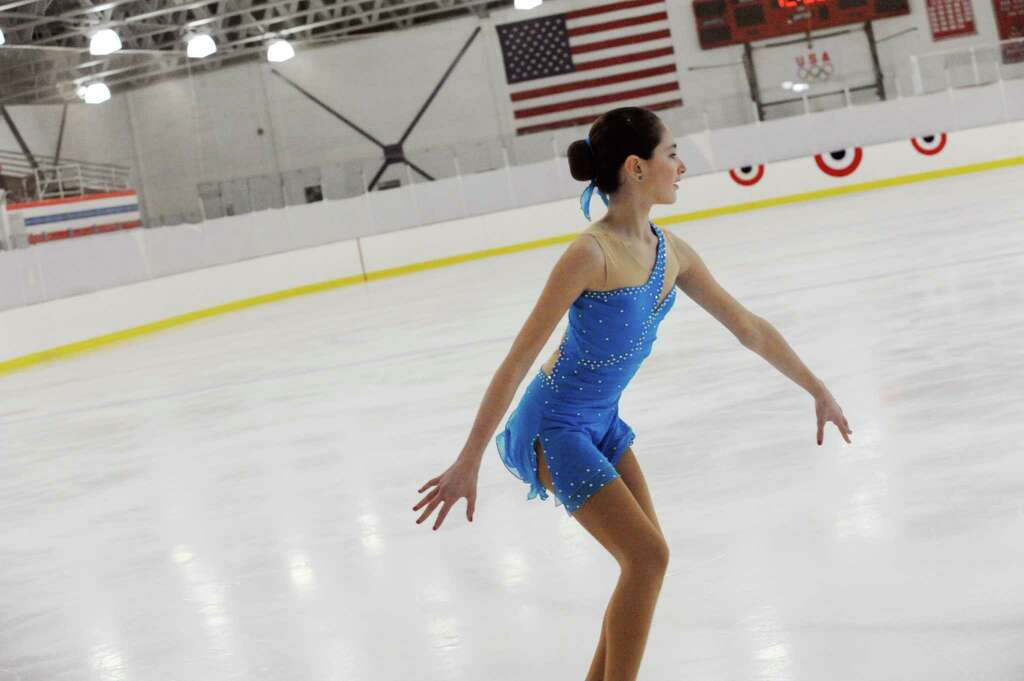 Elizabeth Essaid SFSC Competing At The 2013 Greenwich Town Figure Skating Competition