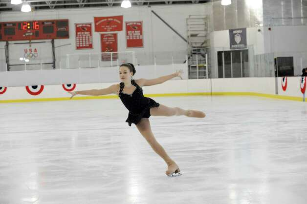 Pippa Leigh, SCNY, competing at the 2013 Greenwich Town Figure Skating Competition at the Dorothy Hamill Skating Rink, in Byram, Conn., Sunday, Feb. 24, 2013. Photo: Helen Neafsey / Greenwich Time