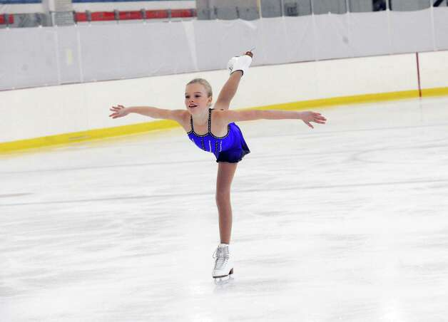 Brinkley Blum, SFSC, competing, at the 2013 Greenwich Town Figure Skating Competition at the Dorothy Hamill Skating Rink, in Byram, Conn., Sunday, Feb. 24, 2013. Photo: Helen Neafsey / Greenwich Time