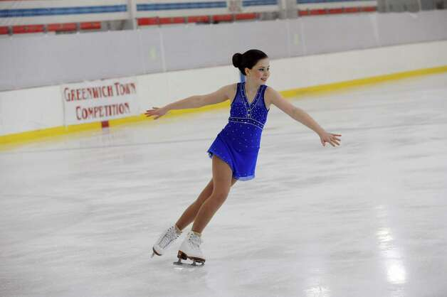Natasha Witz, LRSC, competing at the 2013 Greenwich Town Figure Skating Competition at the Dorothy Hamill Skating Rink, in Byram, Conn., Sunday, Feb. 24, 2013. Photo: Helen Neafsey / Greenwich Time