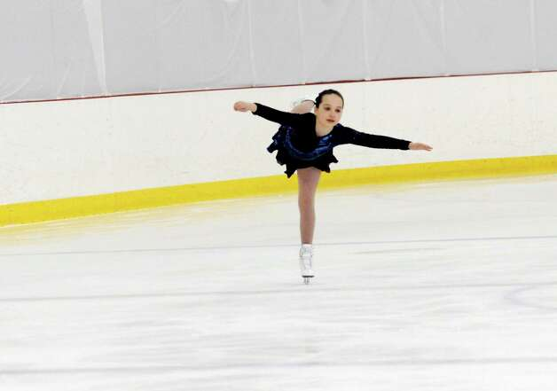 Ella Devault, SFSC, competing at the 2013 Greenwich Town Figure Skating Competition at the Dorothy Hamill Skating Rink, in Byram, Conn., Sunday, Feb. 24, 2013. Photo: Helen Neafsey / Greenwich Time