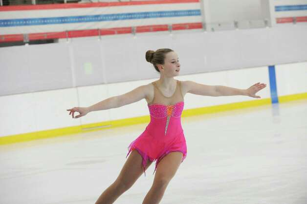 Katherine Mettler, SFSC, 13, competing at the 2013 Greenwich Town Figure Skating Competition at the Dorothy Hamill Skating Rink, in Byram, Conn., Sunday, Feb. 24, 2013. Photo: Helen Neafsey / Greenwich Time
