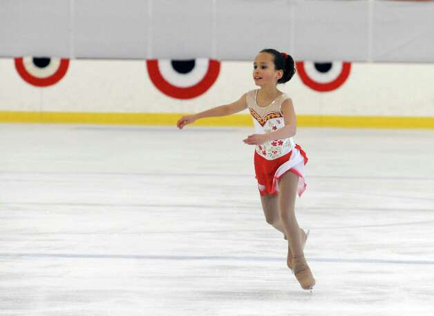 Kathryn Berger, SCSC, competing at the 2013 Greenwich Town Figure Skating Competition at the Dorothy Hamill Skating Rink, in Byram, Conn., Sunday, Feb. 24, 2013. Photo: Helen Neafsey / Greenwich Time